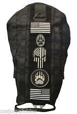 SWAT BLACK TACTICAL POLICE K9 DOG VEST HARNESS MOLLE MILSPEC CANINE VELCRO