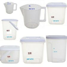WHITEFURZE PLASTIC FOOD TUB STORER STORAGE CONTAINER CANISTER JUG.