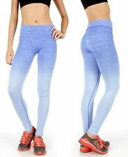 Fold Over Waist Ombre Workout Pants in Sizes M-XL in 7 Colors