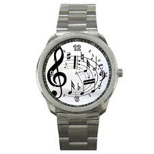 New Music Note Sport Metal Watch Free Shipping