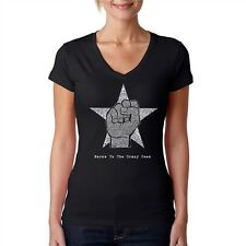 Women's V-neck T-Shirt - Steve Jobs - Here's to The Crazy One's