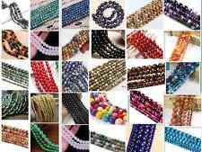 Wholesale Lot Natural Gemstone Round Spacer Loose Beads 4mm 6mm 8mm 10mm