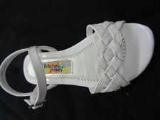 New Girl's Flat White Sandals Rachel Kids/Graduation Size 12 Toddler - 4 Youth