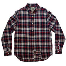 NWT Mens Ace Rivington Button Front Beach Washed Plaid Shirt Red Blue S M L