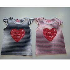 Girl Toddler Clothing Striped T-Shirt Top Heart Blue Red New 1-4 Years