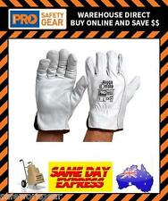(Pack of 12)  Riggamate Riggers Leather Work Glove Safety Gloves Cow Grain