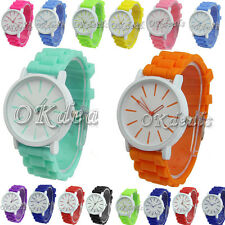 Hot Unisex Geneva Silicone Jelly Gel Quartz Analog Sports Unique Wrist Watch DVF