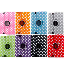 Portable Polka Dot 360 Rotating Case Cover Stand For Amazon Kindle Fire HDX 8.9