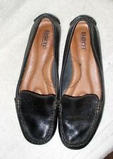 Nice ~  **BORN**  Slip On,Driving, Black Leather Loafer Flats, US.7 M,Euro 38
