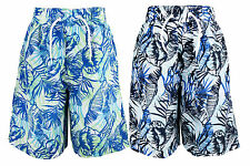 NEW Cargo Bay Boys Blue Floral Mesh Pant Lined Bermuda Swim Shorts Trunks 2-13y