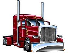 Cartoon 2004 Peterbilt 379 Big Rig Semi Truck Hauler Tshirt 8152