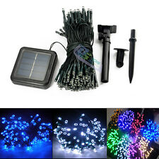 Outdoor 200 LED Solar Powered Fairy String Lights Garden Christmas Wedding Party