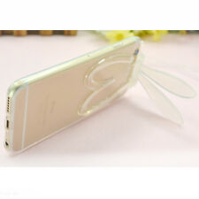 Ultra-Thin Rabbit Transparent Silicone Soft Cover Case For iphone 6 6plus+belts