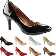 LADIES WOMENS LOW MID HIGH KITTEN HEEL WORK BRIDAL SMART OFFICE COURT SHOES SIZE