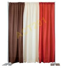 8 FT HIGH x 10 FT WIDE PIPE AND DRAPE KIT (WITH ECONOMY DRAPES) - PIPE & DRAPE