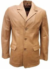 MENS classic BLAZER Tan Slim Jim Tailored VERY Soft Real lambskin Leather Jacket