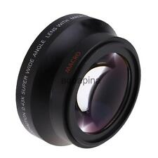 Black Wide Angle Macro Auxiliary Lens For Canon18-135 Nikon18-105 Camera Lens