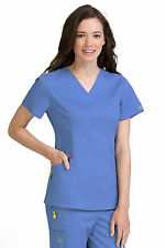 Vivi by Med Couture Women's Ivy V-Neck Princess Seam Scrub Top 5401-Ceil