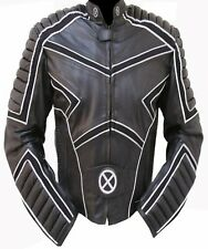 X-MEN Motorcycle Leather Jacket Racing Riding Jacket with Armor w/ Reflector New