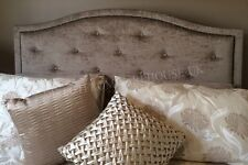DESIGNER BED HEADBOARD IN CHENILLE FABRIC TOP QUALITY STYLE ALL SIZES & COLOURS