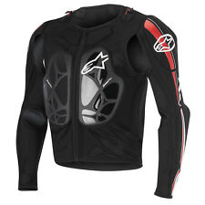 2016 Alpinestars Bionic Pro BNS Protection MX Jacket - Black White Red