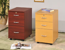 Home Office 3-drawers File Cabinet with Casters