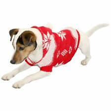 Christmas Knitted Dog Jumper Sweater Pet Clothes Hoody w Santa Hat