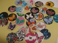Pre Cut One Inch MIX OF BUTTERFLIES BUTTERFLY Bottle Cap Images! FREE SHIP