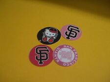 Pre Cut One Inch HELLO KITTY SAN FRANSICO GIANTS Bottle Cap Images! FREE SHIP