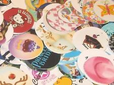 Pre Cut One Inch MIX Bottle Cap Images! FREE SHIP
