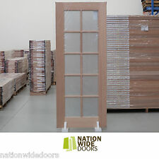 French Doors 10 Lite Frosted Glass Solid Timber Doors Meranti Hardwood