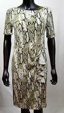 JONES NEW YORK Petite Dress Snake Print Womens Size PS PM Green Black NEW