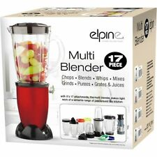 New 17pcs Multi Blender Food Processor Juicer Smoothie Maker Grinder Chopper Red