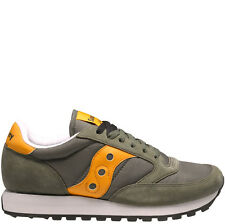 SAUCONY JAZZ ORIGINAL CASUAL MEN'S SNEAKER 2044-300 OLIVE ORANGE SUEDE NYLON NIB