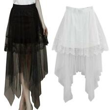 Vogue Sexy Lace Skirts Women's Long Section Skirt Jupe Tulle Short Skirt