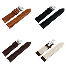First Grade Cow Genuine Full Grain Leather Stainless Steel Buckle Straps Bands