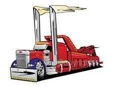 Wrecker Tow Truck Mens Tshirt #1037 Big Rig Peterbilt automotive art