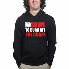I Bowl Bowling Pin Ball New Black Mens Sweatshirt Hoodie Hoody