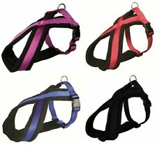 Trixie Premium Touring Fleece Lined Padded Dog Harness Blue Red Black & Berry