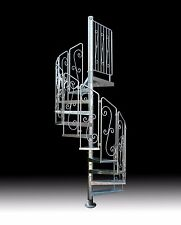 SPIRAL STAIRCASE with WROUGHT IRON HANDRAILS - HOT DIP GALVANIZED STEEL - AUS