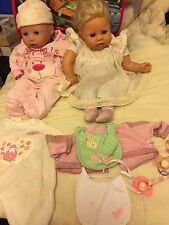 baby annabell And Molly Zaph Doll Bundle Job lot With Clothes And Dummies Fab