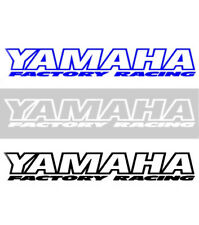 Factory Racing NEW Mx Yamaha Moto Decal Black Blue White 200mm Motocross Sticker