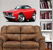 1967 1968  Cuda Muscle Car WALL GRAPHIC DECAL MAN CAVE BAR ROOM GARAGE 9490
