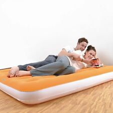 Jilong Double Flocked Inflatable Air Bed Mattress Lilo ~ Camping Airbed