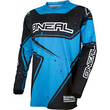Oneal 2017 NEW Mx Gear Element Dirt Bike BMX Black Cyan Blue Motocross Jersey