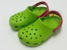 Crocs Kids Classic Clog Volt Green / Raspberry All Boys Girls Size