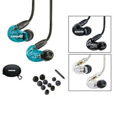 Shure SE215 Se 215 Sound Isolating In-Ear Monitoring Earphones Black Blue Clear