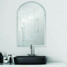 Arch Frameless Bevel Edge Contemporary Decorative Wall Mirror