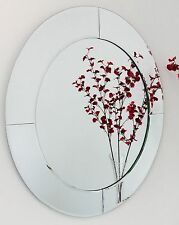 Round Bevel Overlay Trim Decorative Frameless Wall Mirror - The Royal Collection