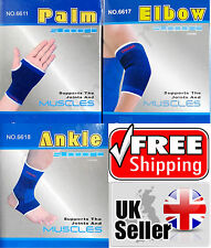 2 Elastic Palm Ankle Elbow Muscle Support Gym Brace Sports Bandage Pain Relief